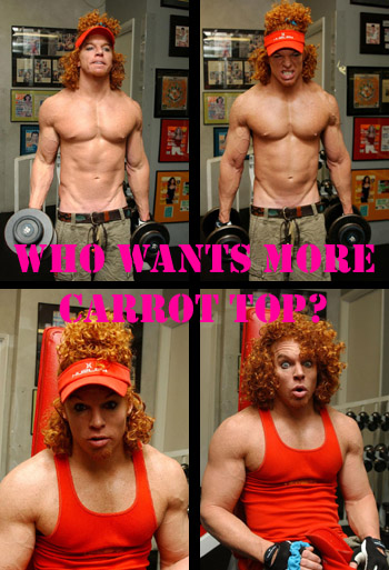 Carrot Top is juiced