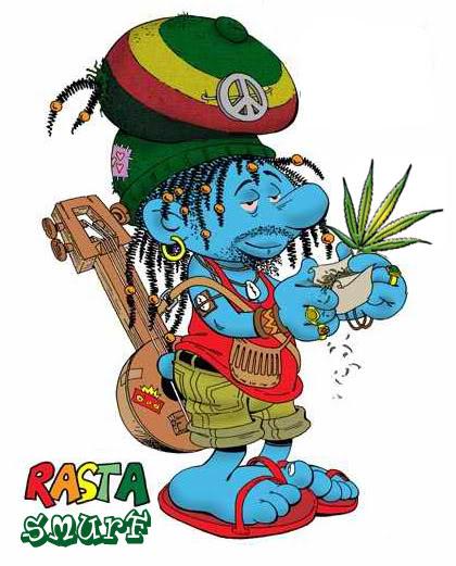 Smurfs Smoking Weed
